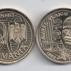 Monede Romania, An: 2010, Alama - ROMANIA 50 BANI 2010 Aurel Vlaicu, UNC (necirculata), din fisic, in cartonas