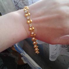 Bratara aur Swarovski, 14 carate - Bratara din aur filat