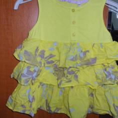 Maieu copii fetite 2 3 ani galben cu volane imprimeu floral Zara, Fete