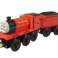 Trenulet de jucarie, Metal, Unisex - Wooden trenulet jucarie Thomas - JAMES locomotiva lemn magnet -100% original NOU