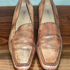 Pantof dama din piele Geox Respira marimea 40 - Super Pret, Culoare: Din imagine, Piele naturala