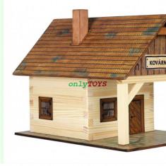 Set constructie casuta din lemn Fierarie Casa Fierarului eco walachia Kovarna - Jocuri Seturi constructie