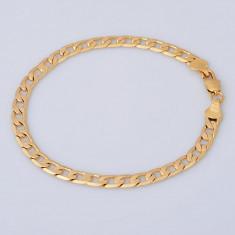 Bratara placate cu aur - Bratara placata cu aur 18K; 21 cm lungime, 0.6 cm grosime
