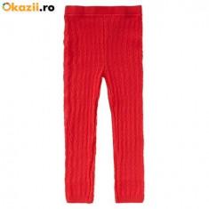 Noi! Pantaloni-colanti tricotati, iegari, rosii, marca George, fete 18-24 luni/ 86-92 cm, Culoare: Rosu