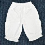 Haine Copii 1 - 3 ani, Pantaloni, Fete - Pantalonasi scurti batist alb, marca George, fetite 1-2 ani