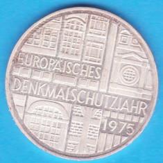 (1) MONEDA DIN ARGINT - GERMANIA - 5 MARK 1975, LIT. F - DENKMALSCHUTZJAHR, Europa