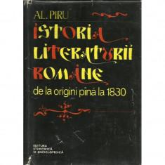 Studiu literar - Al. Piru - Istoria literaturii romane de la origini pana la 1830