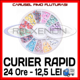 SET CARUSEL FIMO - MODEL CU FLUTURI - DECORATIUNI UNGHII NAIL ART