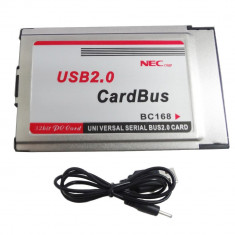 Adaptor PCMCIA la USB 2.0 CardBus 2 Port 480M