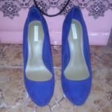 Pantofi Bershka - Pantof dama, Marime: 38, Culoare: Albastru