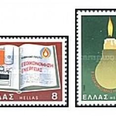 Timbre straine - Grecia 1980 - energie, serie neuzata
