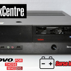 CARCASA + SURSA LENOVO SFF MERGE PE ORICE PLACA DE BAZA MICRO ATX - Carcasa PC, Altul, Sursa inclusa