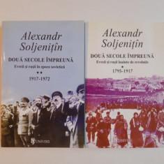 DOUA SECOLE IMPREUNA, EVREII SI RUSII INAINTE DE REVOLUTIE VOL. I - II (1795 - 1917) de ALEXANDR SOLJENITAN, 2004 - Istorie