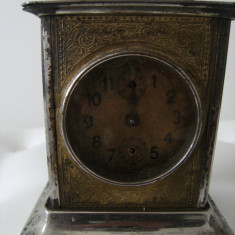 Superb ceas calatorie, marcat Junghans, ceas german, aparut la incep.sec XX. - Ceas de masa