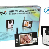 Resigilat - Interfon video color wireless model PNI 3509W cu ecran LCD de 3.5 inch
