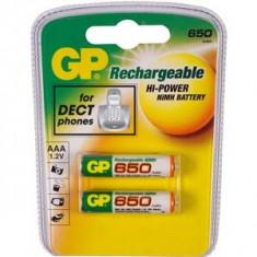 Acumulator original GP HR03 2buc./blister 650mAh - Baterie Aparat foto