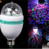 Bec/neon ZDM, Becuri halogen, 10 - 20, > 10000, Interior, E27 - BEC LED DISCO Rotativ e27 multicolor