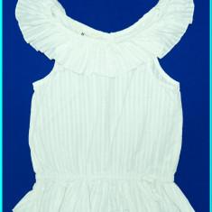 DE FIRMA _ Bluza din bumbac, FRUMOASA, marca H&M _ fete | 7 - 8 ani, Culoare: Alb
