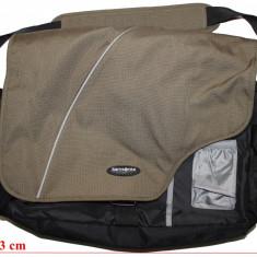 Geanta laptop Samsonite, CA NOUA!!!, Geanta de umar, 18 inch, Poliester, Negru
