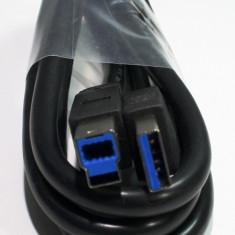 Cablu PC - Cablu de date USB 3.0 de tip A la B, tata-tata, 1 metru, nou.