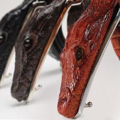 Curea piele naturala pafta crocodil M1 (4culori) curele barbati catarama +CADOU! - Curea Barbati, curea si catarama