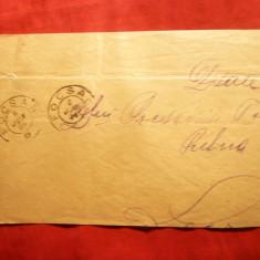 Plic circ. 10 bani verde Spic Grau 1894 de la Focsani