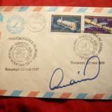 Plic Cosmos - Zbor Comun Romania URSS , Autograf Prunariu 1981