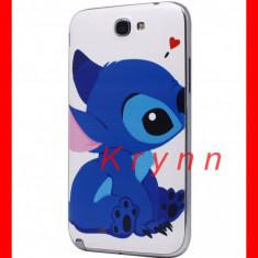 Carcasa telefon, Samsung Galaxy Note 2, Albastru - H20 - Carcasa Capac Baterie / Spate Samsung Galaxy NOTE 2 N7100, Stitch + FOLIE!
