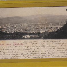 BISTRITA 1898 - Carte Postala Transilvania pana la 1904, Circulata, Fotografie