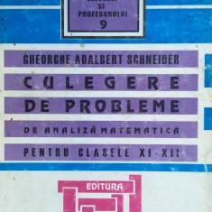 CULEGERE DE PROBLEME DE ANALIZA MATEMATICA PT. CLASELE XI-XII - G. A. Schneider - Culegere Matematica