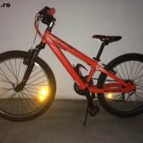 Bicicleta de oras, 15 inch, 24 inch, Numar viteze: 6, Aluminiu, Rosu - Bicicleta Scott Junior Voltage JR24 (ideal pt 9-11 ani)