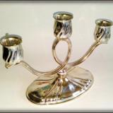 Sfesnic cu 3 brate argintat