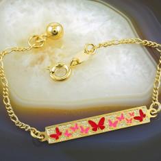Bratara placate cu aur - Bratara Placata Cu Aur 18k, cu placuta, cod 693