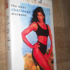 THE NEXT CHALLENGE WORKOUT - CINDY CRAWFORD ( AEROBIC ) - CASETA VIDEO VHS - Program Exercitii fizice, Engleza