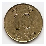 Hong Kong 10 Centi 1994 - 17.55 mm KM-66, Asia, An: 1994