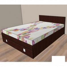 Mobila de dormitor - Pat cu un sertar Raul 1 - mahon 776