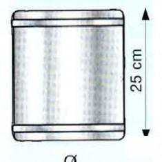 Cos fum - Tub 25 cm pentru cosuri de fum izolate din inox Hi Line - 180 x 240 x 30 mm