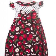 Haine dama - Rochite de fetite cu model cu mere - BBN1051
