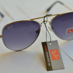 Ochelari de soare RAY BAN Aviator, Unisex, Violet, Pilot, Metal, Protectie UV 100%