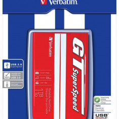 Verbatim HDD 2.5 1TB USB 3.0 GT SUPERSPEED RED/WHITE