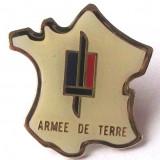 T4. INSIGNA MILITARA FRANTA ARMEE DE TERRE, 24 x 24 mm **, Europa
