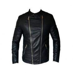 Geaca barbati Zara, Piele - Geaca Zara Man Casual David Beckham Imblanita SlimFit Cod Produs D336