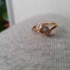 Superb inel 9K GOLD FILLED cu zircon CZ. Marimea: 7 si 8 - Inel placate cu aur
