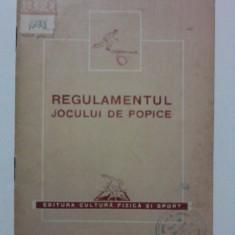 Carte despre Sport - Regulamentul jocului de popice 1953 / R7P4S
