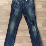 Blugi Reign italia jeans Barbati - Blugi barbati, Marime: 32, Culoare: Din imagine, Lungi, Cu rupturi, Slim Fit