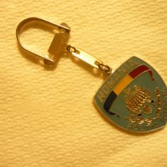 Breloc - Politia Rutiera, metal si email, h.total= 8, 5 cm - Breloc Barbati
