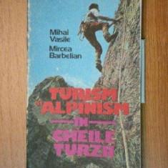 TURISM SI ALPINISM IN CHEILE TURZII de MIHAI VASILE, MIRCEA BARBELIAN 1986 - Carte Geografie