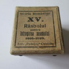 RARISIM!DIAFILM RASBOIUL PENTRU INTREGIREA NEAMULUI 1916-1919ED.PEDAGOG CHISINAU