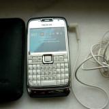 Telefon Nokia E-71, Necodat, Alb, 64GB, Neblocat, Dual core, 2 GB