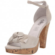 GDY66 Sandale de vara din piele intoarsa - Sandale dama, Marime: 38